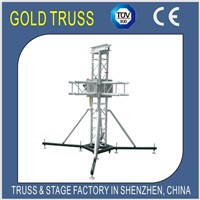 Aluminum Truss Lift System Include Top Secton, Sleeve Bolck and Truss Base