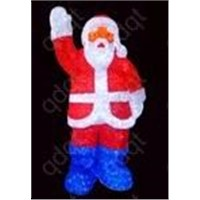 artificial waterproof christmas led santa claus light