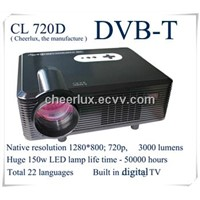cheap 3000 lumens projector built in digital TV with 2 usb inputs 2 hdmi ports