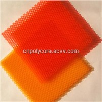 Colorful PC Honeycomb Core, Polycarbonate Honeycomb Sheet Saving Energy In Building Glass