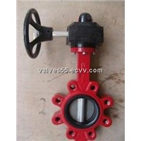 Ductile iron lug butterfly valve Lever /Gear Operator SS304 Disc PN16 Epoxy Coating