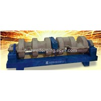 forged full-fiber integral die forging crankshafts for frac. pump