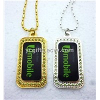 high quality fashion dog tags with ball chain
