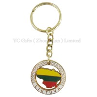 map metal keyring for souvenir