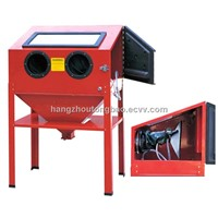 mini vertical  red sand blast cabinet