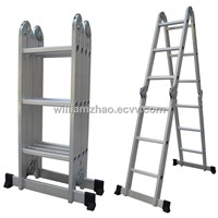 multifunctional ladder aluminium multipurpose ladder WG607-370 4X3steps 12rungs