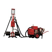 portable mobile  water well DTH rock drill China Electric mobile DTH drilling rig