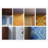 pvc plastic flooring cover Thickness: 0.35mm~0.7mm