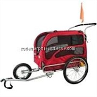 Doggyhut Large Pet Bike Trailer / Jogger Kit Dog Bicycle Carrier Red