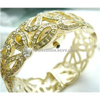Fashion lady bracelet bangle crystal watch