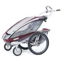 Thule Chariot 2014 CX2 Chassis w/ Strolling kit - Burgundy