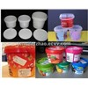 Plastic Bucket with Colorful Printings, PP Containers, In Mould Labeling