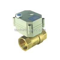 2 Way brass motorized ball Valve for flow meter
