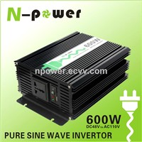 600W Pure Sine Wave DC48V to AC110V Power Inverter with USB