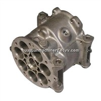 Aluminum Alloy Casting with Powder Coating Finish, Used in Motor Shell and Auto Parts