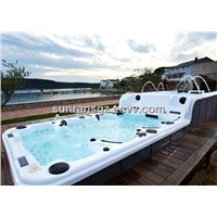 Balboa system luxury massage outdoor swimming pool spa