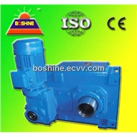 China Big Power Helical Bevel Gearbox Motor
