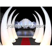 Decorative Inflatable Lighting Horn Inflatable Stage Props