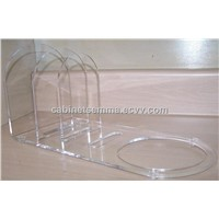 Dish Rack Dinnerware Displayer Clear Acrylic Plate Stand 12'' Long