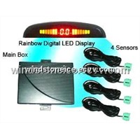 Rainbow LED Display Car Parking Sensor System