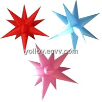 Star Shape Lights Inflatable Star with LED RGB Lamps Colorful Stars