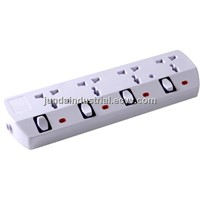 Universal power extension socket with individual switches