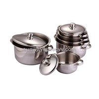 10 pcs Stainless steel casserole set