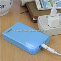 12000 mAh portable mobile phone power pack 1A and 2A output