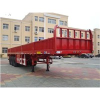 13m Side Wall Semi Trailer and 60ton Semi Trailer Cargo Truck