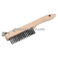 2013Hot Sale Wooden Handle Wire Brush