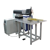 300W Ourdoor Metal Signs Laser Welding Machine