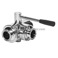 3-Way Ball Valve with Mounting Pad/foot valve/3 way ball valve/stainless steel ball valve