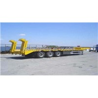 3 Axle 60 Tons Loading Capacity Low Bed Semitrailer