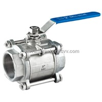 3pc stainless steel threaded end ball valve