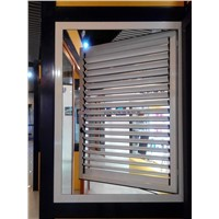 49 Series aluminium glass outward open window with manual shutter