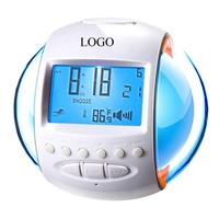 7 Color Changing Light With Natural Sound FM Radio Alarm Clock