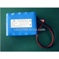 9.6V LiFePO4 battery pack (UL approved cell)