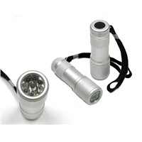 9led flashlight aluminum torch