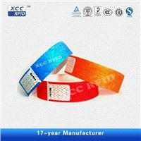 Adhesive Disposable RFID Paper PVC Wristbands