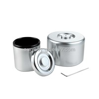 Aluminum ice bucket ice container