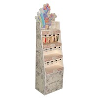 Beauty Products Hooks Cardboard Stand Shelf