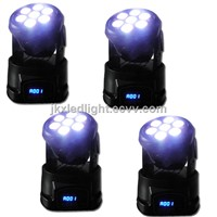 Best pric 7*12W RGB LED Moving Heads, 4in1 Mini Moving Wash / KTV/ Bar Stage Lights