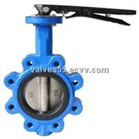 Cast iron lug butterfly valve