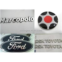 Chrome car logo, Chrome car BADGE, Chrome car emblem, car sticker, car logo, Chrome nameplate