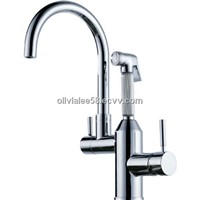 Chromed brass kitchen water tap
