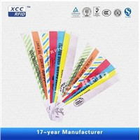 Colorful Disposable 13.56mhz RFID Bracelet Wristbands