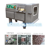 Diced meat cutting machine
