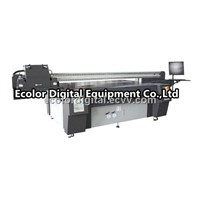 Digital UV Flatbed Printer, Glass Wood Plastic printer, White ink Varnish