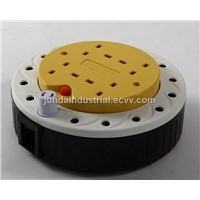 Electrical BS 4 way extension cable reel