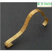 Free shipping high quality ten pieces a lot acrylic shoes display case gold color shoe display